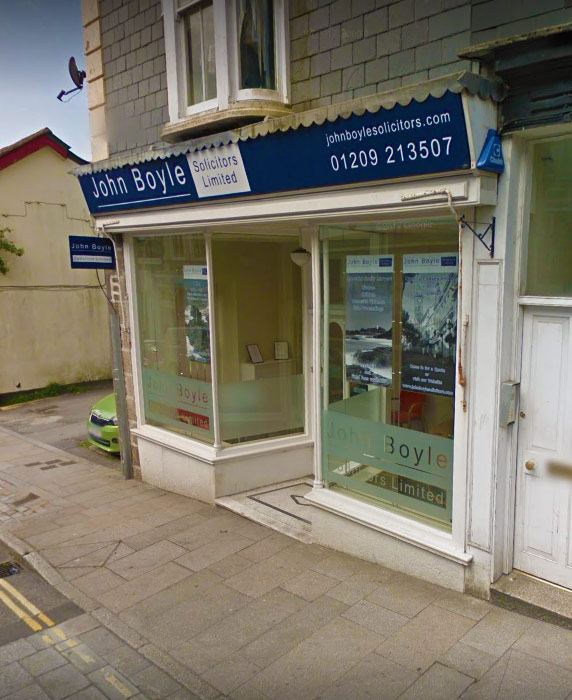 John Boyle Solicitors Office in Redruth, Cornwall